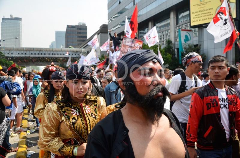 Kirab Budaya Di Hari Pelantikan Jokowi-JK