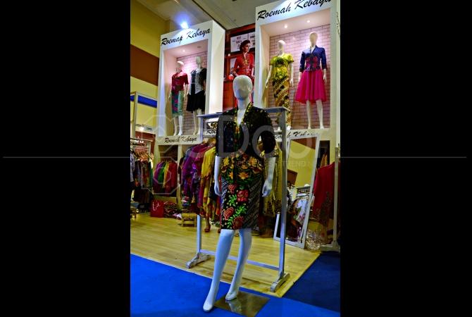Booth Roemah Kebaya saat berlangsungnya Indonesia Fashion Week 2015 pada 26 Februari - 1 Maret 2015