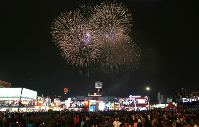 Pengunjung Jakarta Fair Tak Surut Saat Libur Lebaran