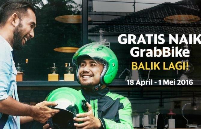 Sambut Hari Angkutan Nasional, Grab Sediakan Tumpangan Gratis GrabBike